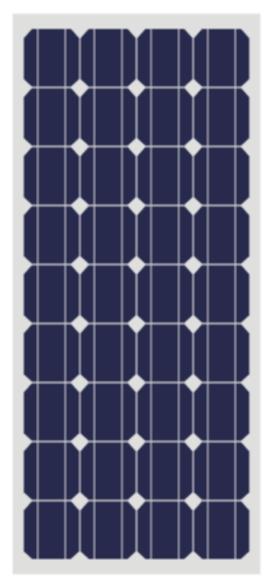 10W-180W太阳能电池组件-单晶硅