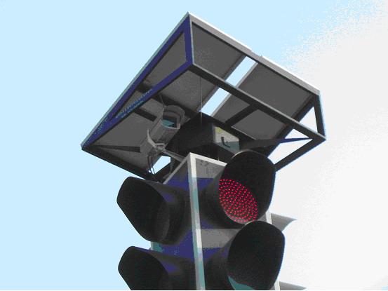 太阳能城市路口监控