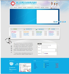 名称:保健类企业网站